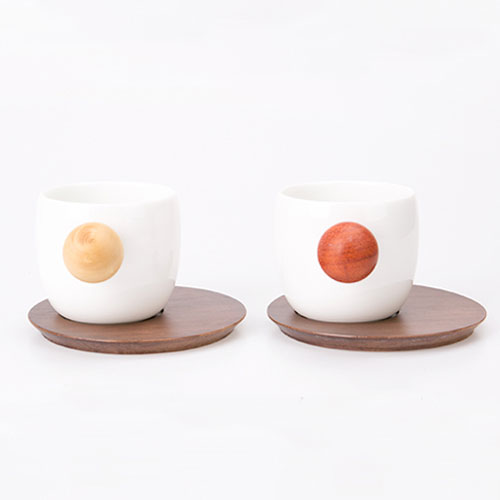 Finemading Quality Porcelain Planet Cup Coffee Mug (2 pcs. set)