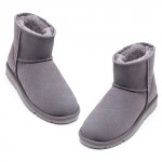 UREVO Casual Wool Boots Gray 37
