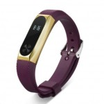 Xiaomi Mi Band 2 Silicone Strap Purple/Gold