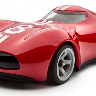 Barbarian Doll Remote Control Sports Car Red