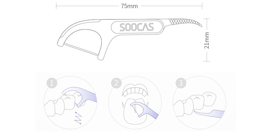 Xiaomi Soocas Professional Cleaning Dental Floss Photo 7